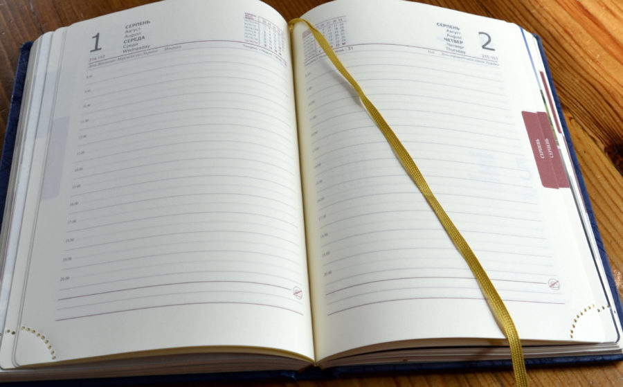 датований блок щоденника